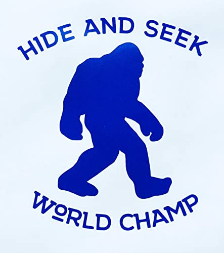 f59ff04c Image Unavailable. Image not available for. Color: Custom Hide and Seek  World Champ Bigfoot Vinyl Decal ...