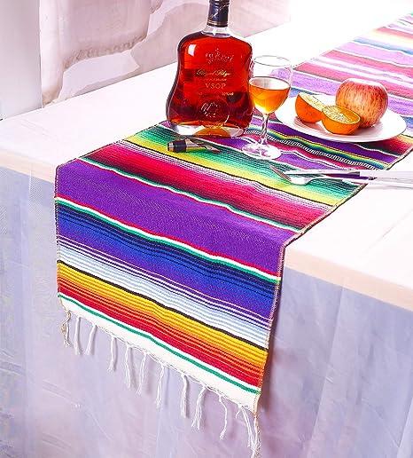 Amazon.com: Laoban - Camino de mesa mexicano Serape ...