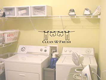 Clean And Fresh Laundry Room Cute Wall Art Wall Sayings Part 78