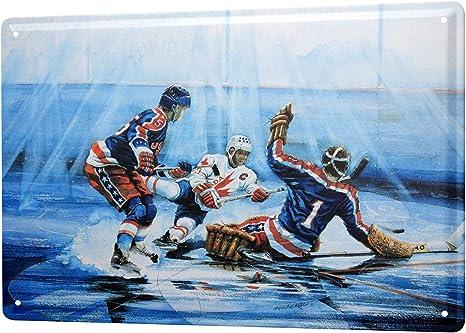 Tin Sign XXL Retro  Hockey Canada USA