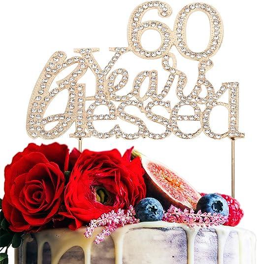 Amazon.com: Decoración para tarta de 55 años para cumpleaños ...
