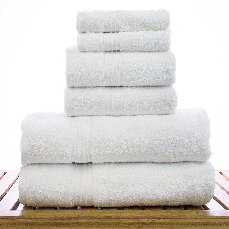 Amazon.com: Soft Touch Linen Terry Cloth Towel Set, 2 Bath Towels, 2 Hand  Towels, 2 Washcloths, White: Home & Kitchen