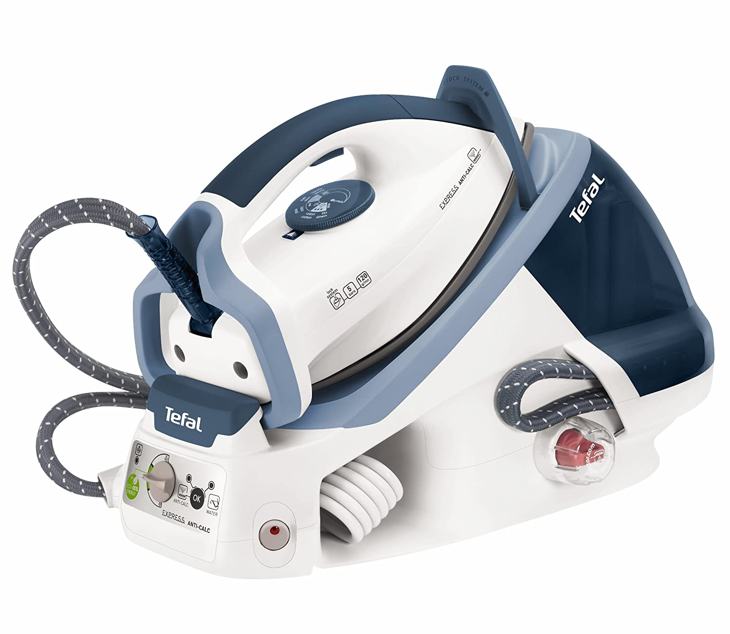 Tefal Express High Pressure Steam Generator Iron GV7450 Blue