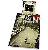 Herding 486588050 Bettwäsche, The Walking Dead, Kopfkissenbezug 80 x 80 cm und Bettbezug 135 x 200 cm, 100 % Polyester, Microfaser