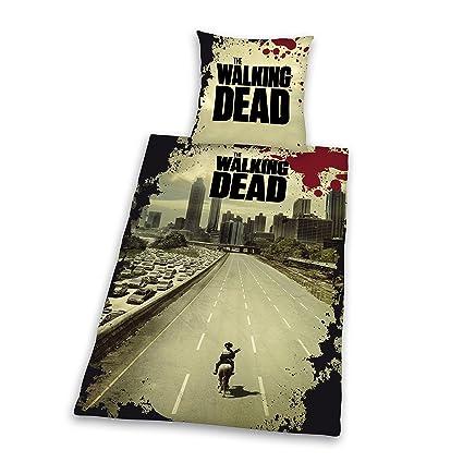 Copripiumino The Walking Dead.Herding Set Copripiumino Singolo E Federa The Walking Dead Multicolore Mehrfarbig 135 Cm X 200 Cm