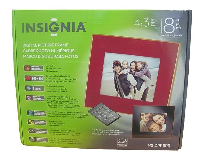 Amazon.com : Insignia Digital Picture Frame 8 inch 1GB : Camera & Photo