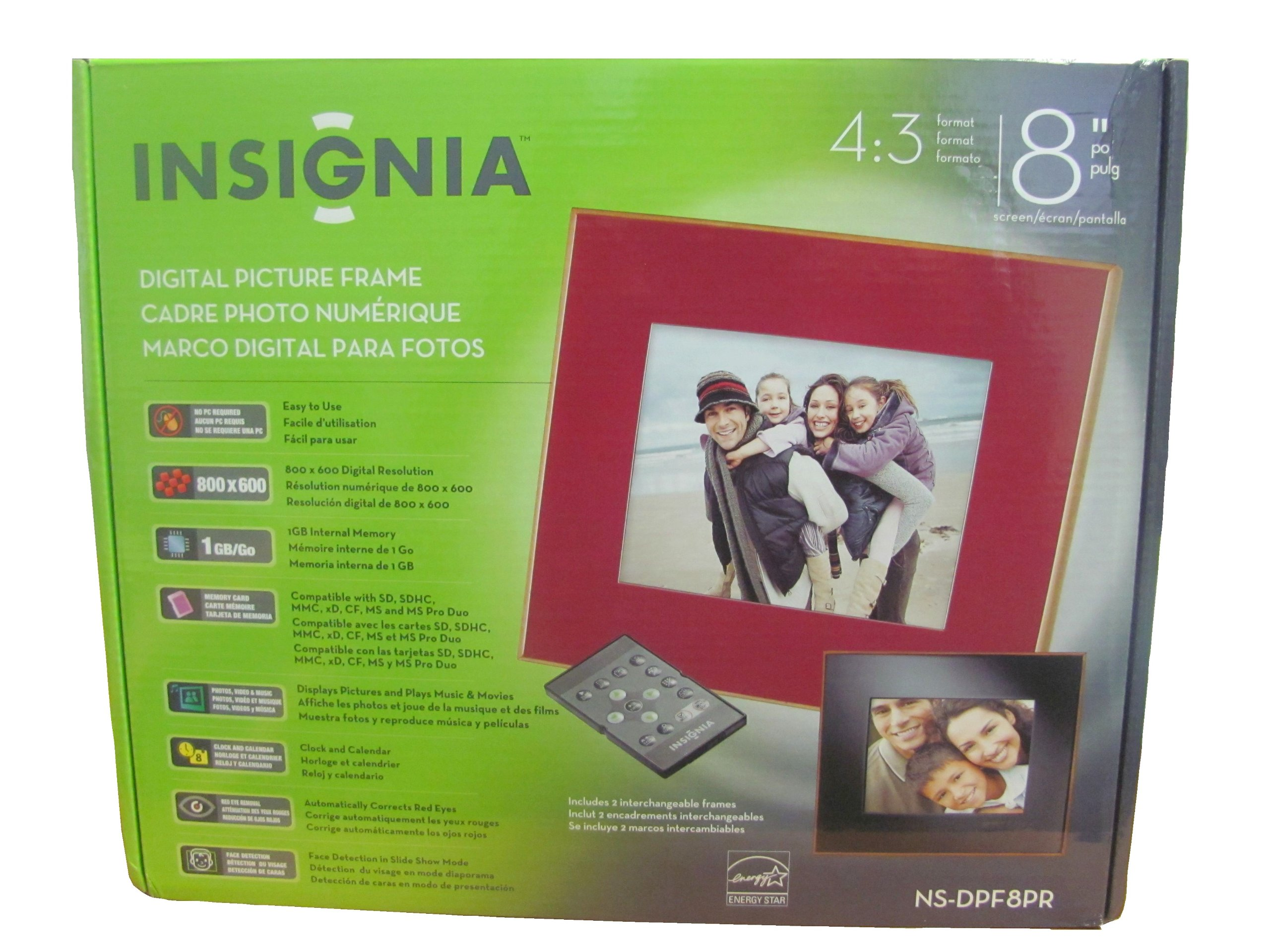 Insignia Digital Picture Frame 8 inch 1GB by Insignia