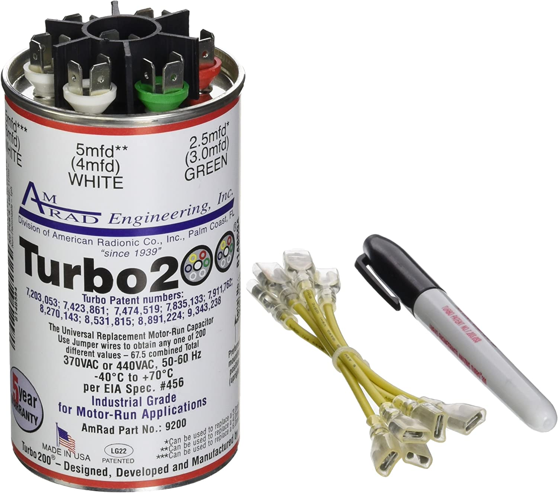 MARS Motors /& Armatures 12100 Turbo Mini 200 All in One capacitor Inc.