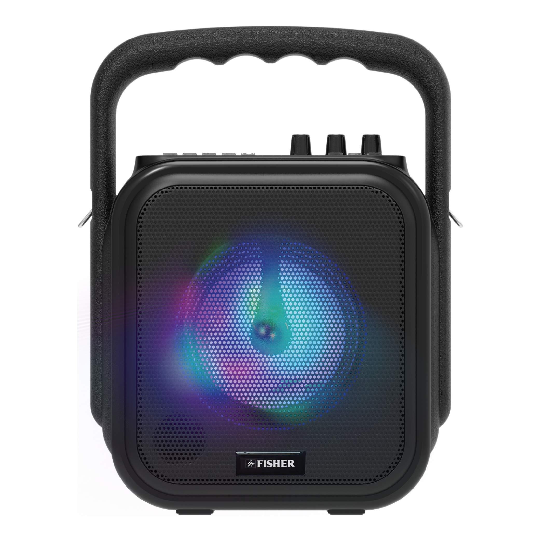 Fisher FBX360 Bluetooth Karaoke Speaker System with Remote Control (Black)