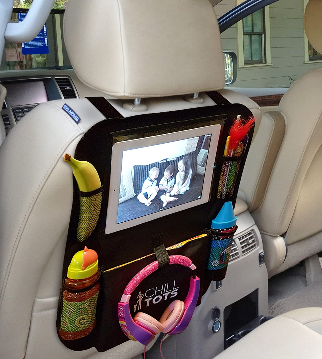 Chill Tots Back Seat Car Organiser With 10 1 Quot Ipad Tablet