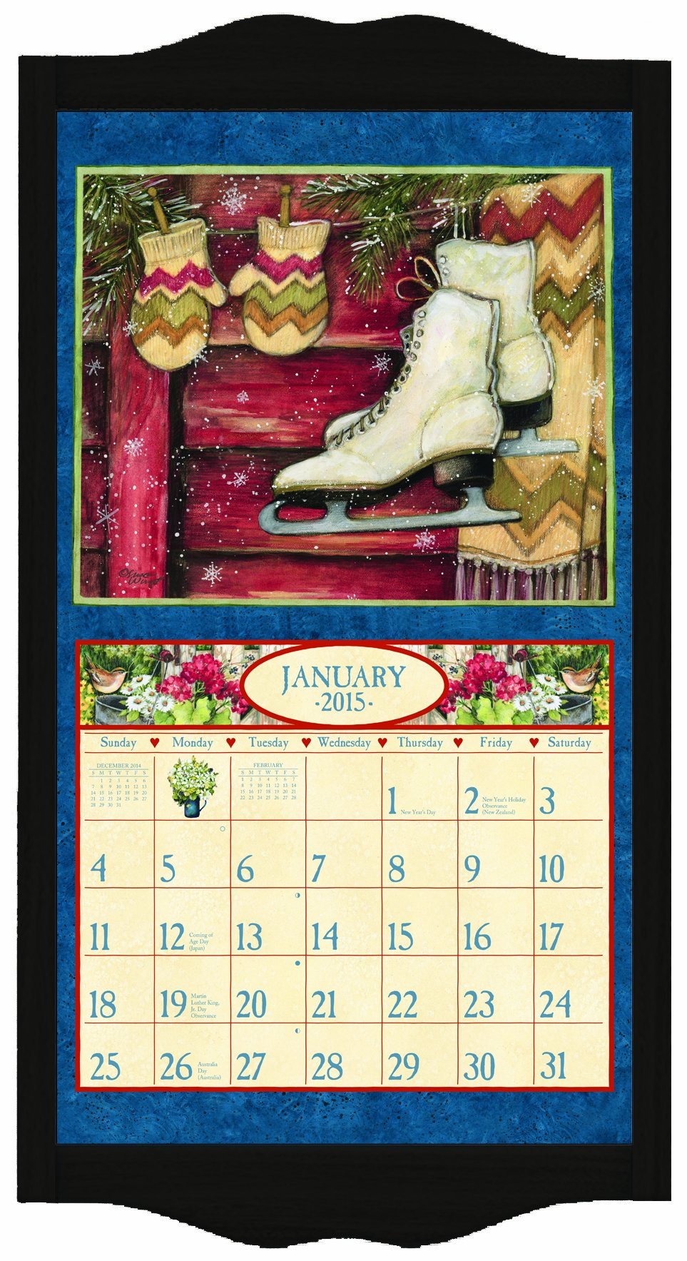 Lang Perfect Timing Lang Classic Black Diamond Calendar Frame, 15 x 25.25 Inches (1016003) by LANG