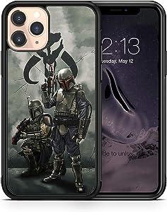 Case Star Wars Mandalorian Compatible with iPhone 12 Pro Max Mini 11 XR X 7 8 Plus SE Samsung Galaxy S20 S10 S9 S10e Plus Note 9 10 20 Ultra Google Pixel 3 3a XL 4 TPU SN (iPhone 11)