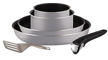 Tefal Scottish gris + olla a presión Neo 6L, aluminio, Gris Scottish