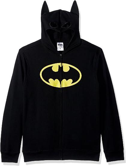 BATMAN Men's Character Zip Front Hoodie