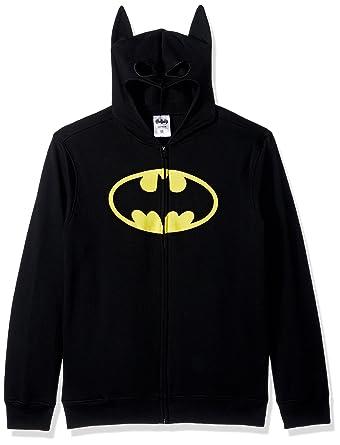 ad93896b834 Batman Men s Character Zip Front Hoodie Hooded Sweatshirt  Amazon.co.uk   Clothing