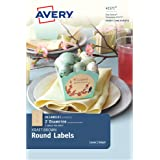 Avery Kraft Brown Round Labels, 2 Inch Diameter, Pack of 20 Labels (41571)