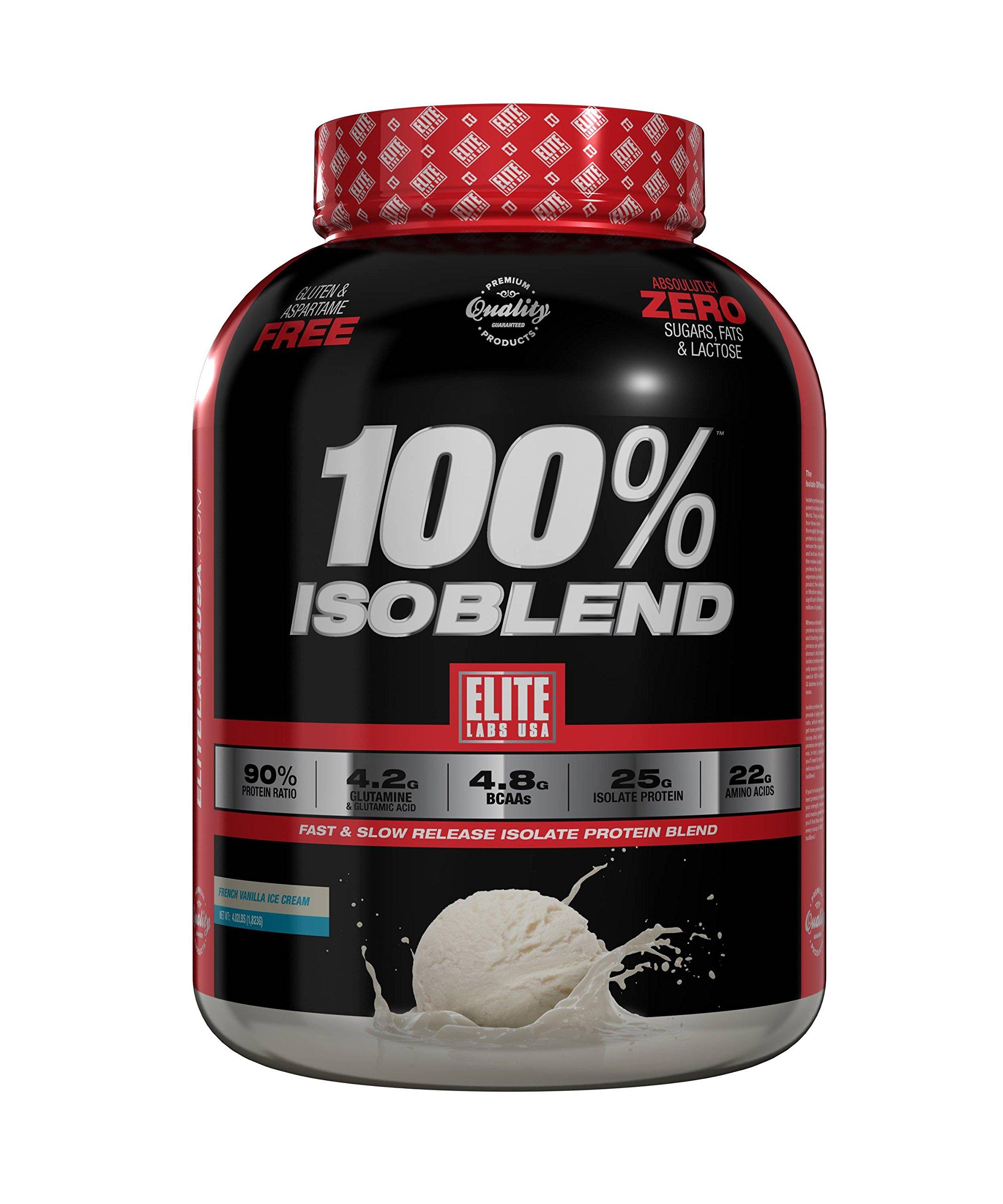 Elite Labs USA 100% ISOBLEND 4.02 LBS, FRENCH VANILLA ICE CREAM