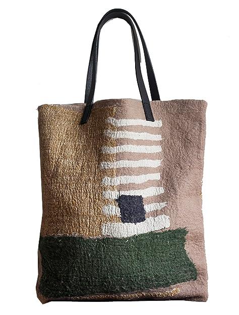 Ysting totalizador hecho a mano - fieltro de lana bolso de ...
