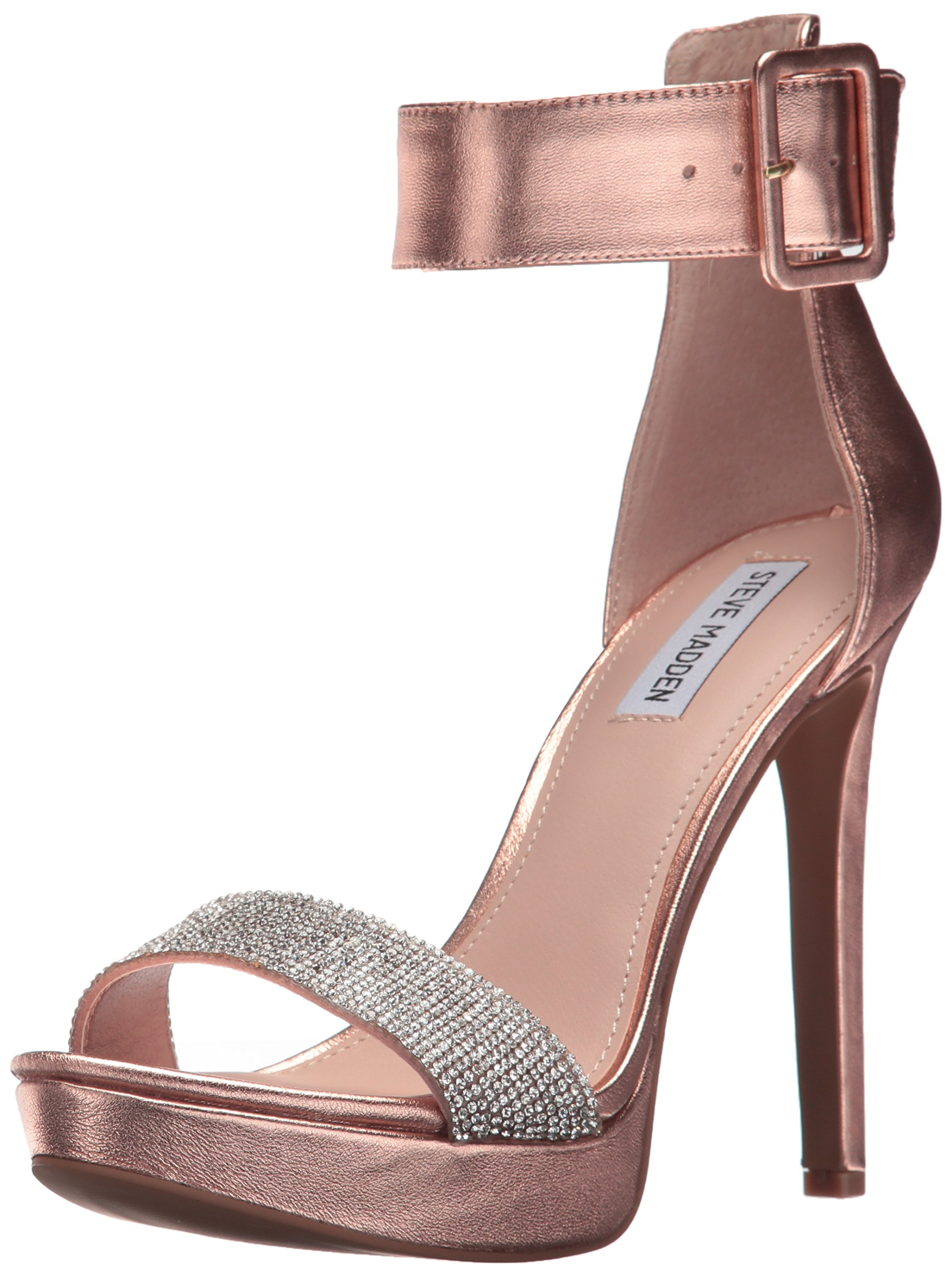 Steve Madden Women's Circuit-R Heeled Sandal, Rose Gold, 10 M US