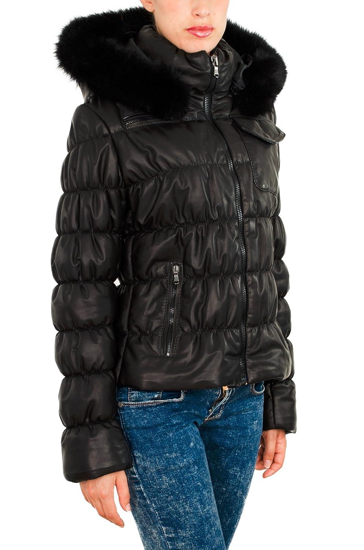 Pellein - Moncler en cuero, abrigo de mujer invernal - modelo Trieste.: Amazon.es: Ropa y accesorios