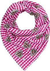 SIX Halstuch: Entzückendes Tuch mit Vichy-Karo, 100% Baumwolle, passend zum Trachten-Outfit, Damenschal für jedes Fest, 65x65 cm, pink-weiß (426-337)