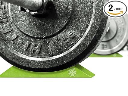 Amazon.com : deadlift wedges set of 2 a portable barbell jack