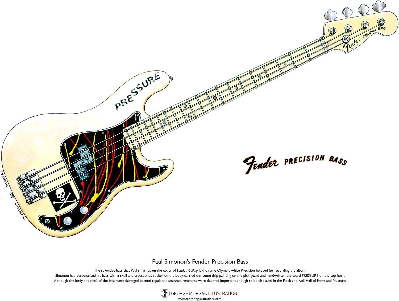 George Morgan Illustration Art Cartel de Fender Precision Bass ...