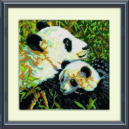 Pandas Tobin DW2522 Needlepoint Kit 10 by 10-Inch