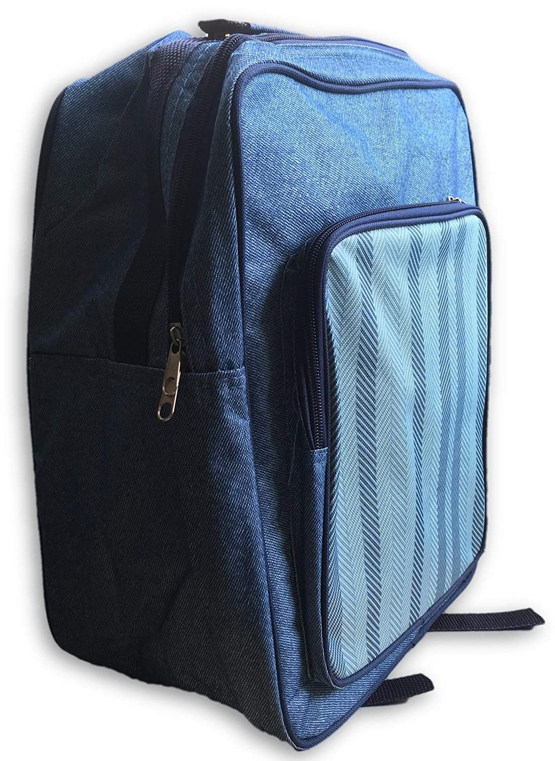 Al Fresco 17L Backpack Rucksack Cooler Bag, Denim Blue, 27x18x35cm, HWP163012 Beamfeature