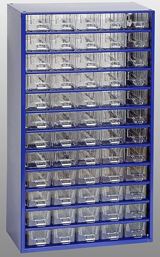 37 Trennstege Kleinteilemagazin METALL Rot 30+6+1 Schubladen Werkstattqualität