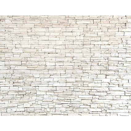 Fototapete Steinwand 3D Effekt Vlies Wand Tapete Wohnzimmer Schlafzimmer Büro Flur Dekoration Wandbilder XXL Moderne Wanddeko
