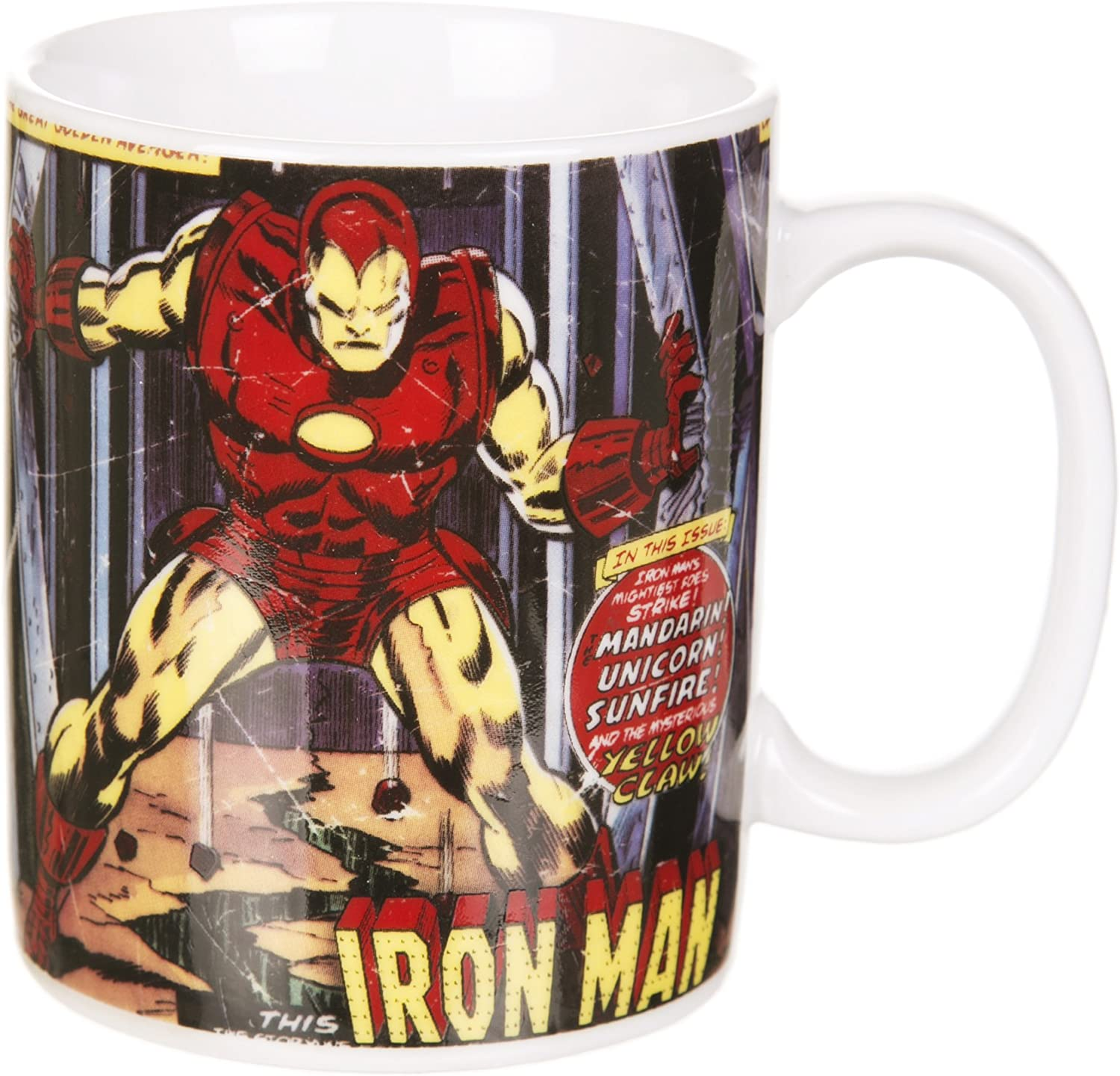 OFFICIAL MARVEL COMICS HEAT CHANGING IRON MAN MUG CUP NEW /& GIFT BOXED