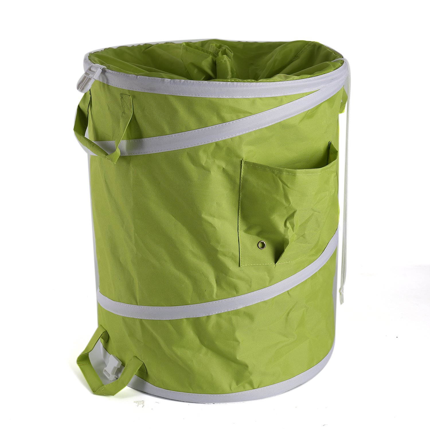 IPOMELO 45 Gallon Pop Up Gardening Bag with Extra 72 Gallon Reusable Yard Lawn Garden Leaf Waste Bag