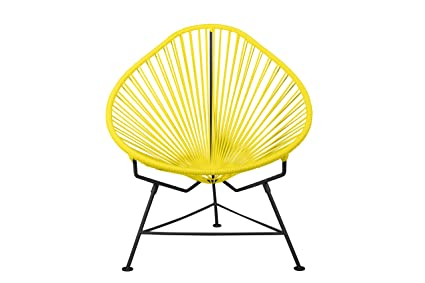Attirant Innit Designs Baby Acapulco Chair, Yellow Weave On Black Frame