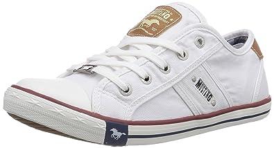 Mustang 1099-302-1, Damen Sneakers, Weiß (1 weiß), 39 EU