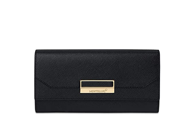 Amazon.com: Montblanc Sartorial Lady Wallet 10 cc Coin Caso ...