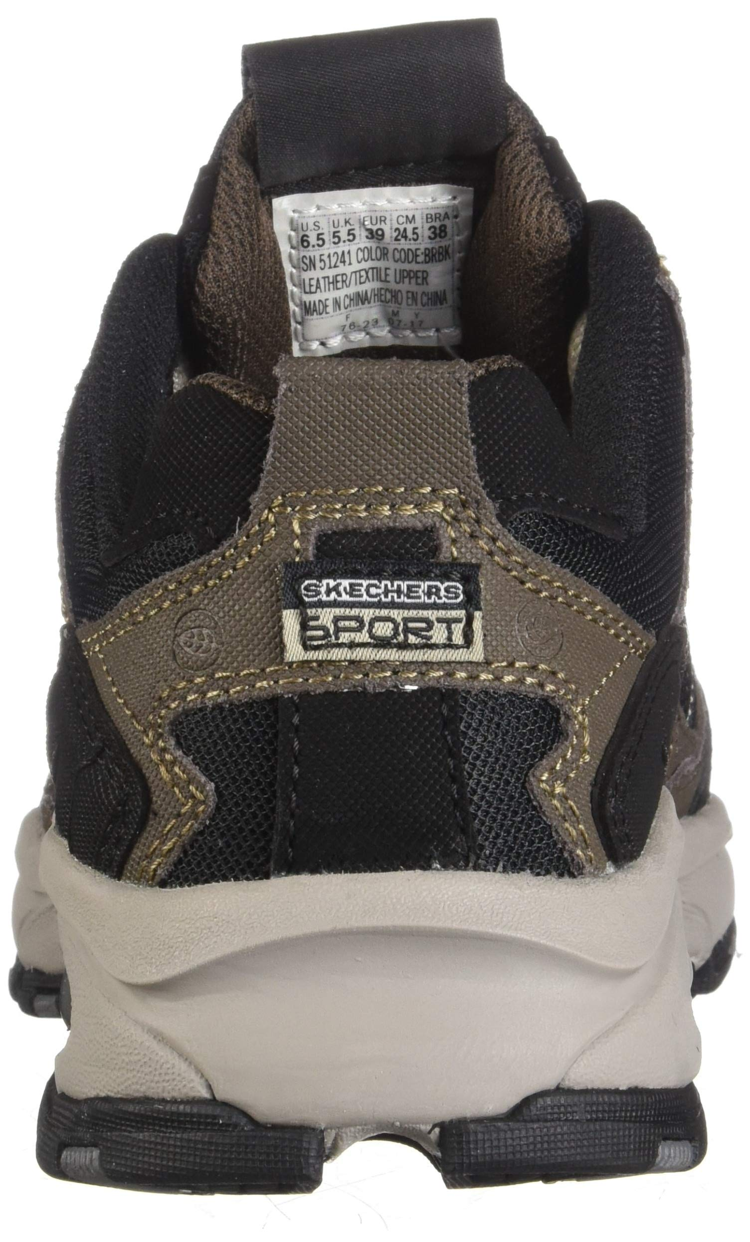 Skechers Sport Men's Vigor 2.0 Trait Memory Foam Sneaker, Brown/Black, 7 M US by Skechers (Image #2)
