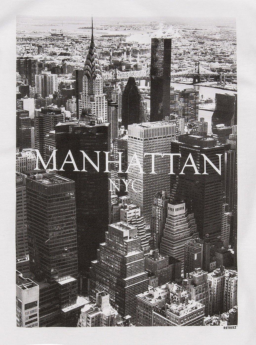 NEW MENS DIGITAL PRINTED NYC NEW YORK CITY LANDSCAPE GRAPHIC DESIGN T-SHIRT TEE