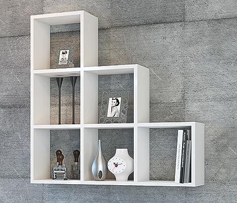 YAMAN Mensola da muro - Bianco - Mensola Parete - Mensola Libreria ...