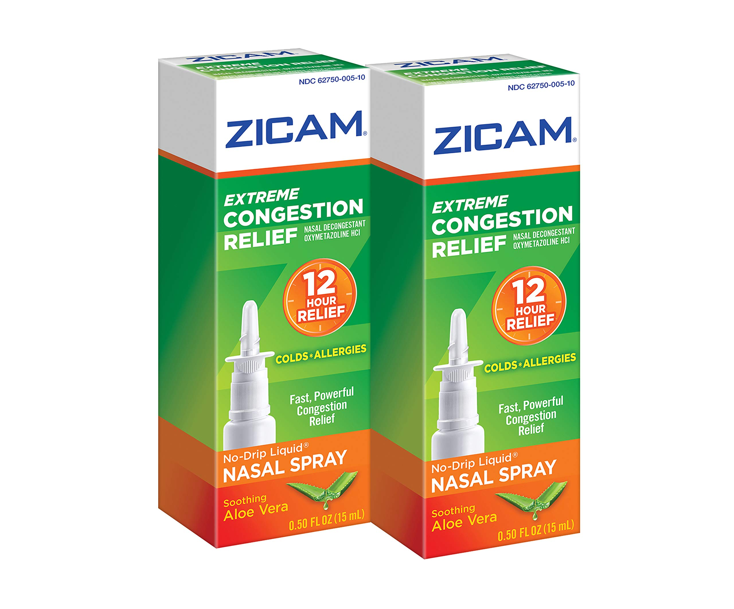 Zicam Extreme Congestion Relief Nasal Spray, 0.5oz. Bottles (Pack of 2), Fast Powerful Relief for Nasal Congestion from Colds or Allergies by Zicam