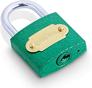 Padlock 29mm(1Pack Green) Small Locks with 3 Keys Suitable for Home&School for Securing Your Suitcase,Jewelry Boxes,Gym Locker,Tote,Mini Fridge,Cabinet,and More!