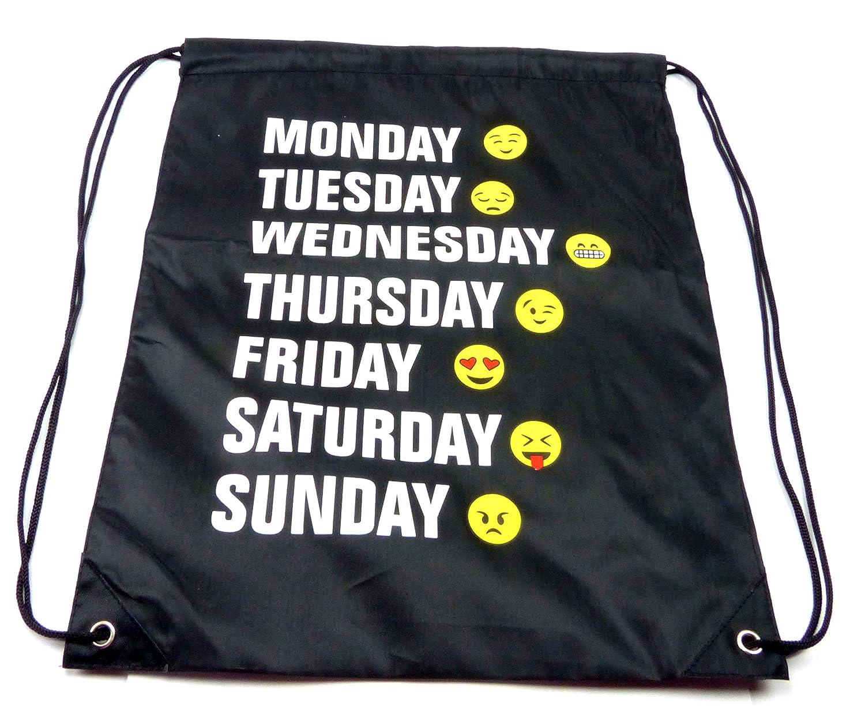 Turnbeutel Tasche Beutel Rucksack Damenrucksack Rucksack Smiley Week