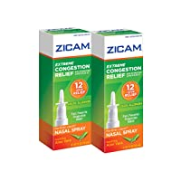 Zicam Extreme Congestion Relief No-Drip Liquid Nasal Spray with Soothing Aloe Vera, 0.5 Ounce (Pack of 2)