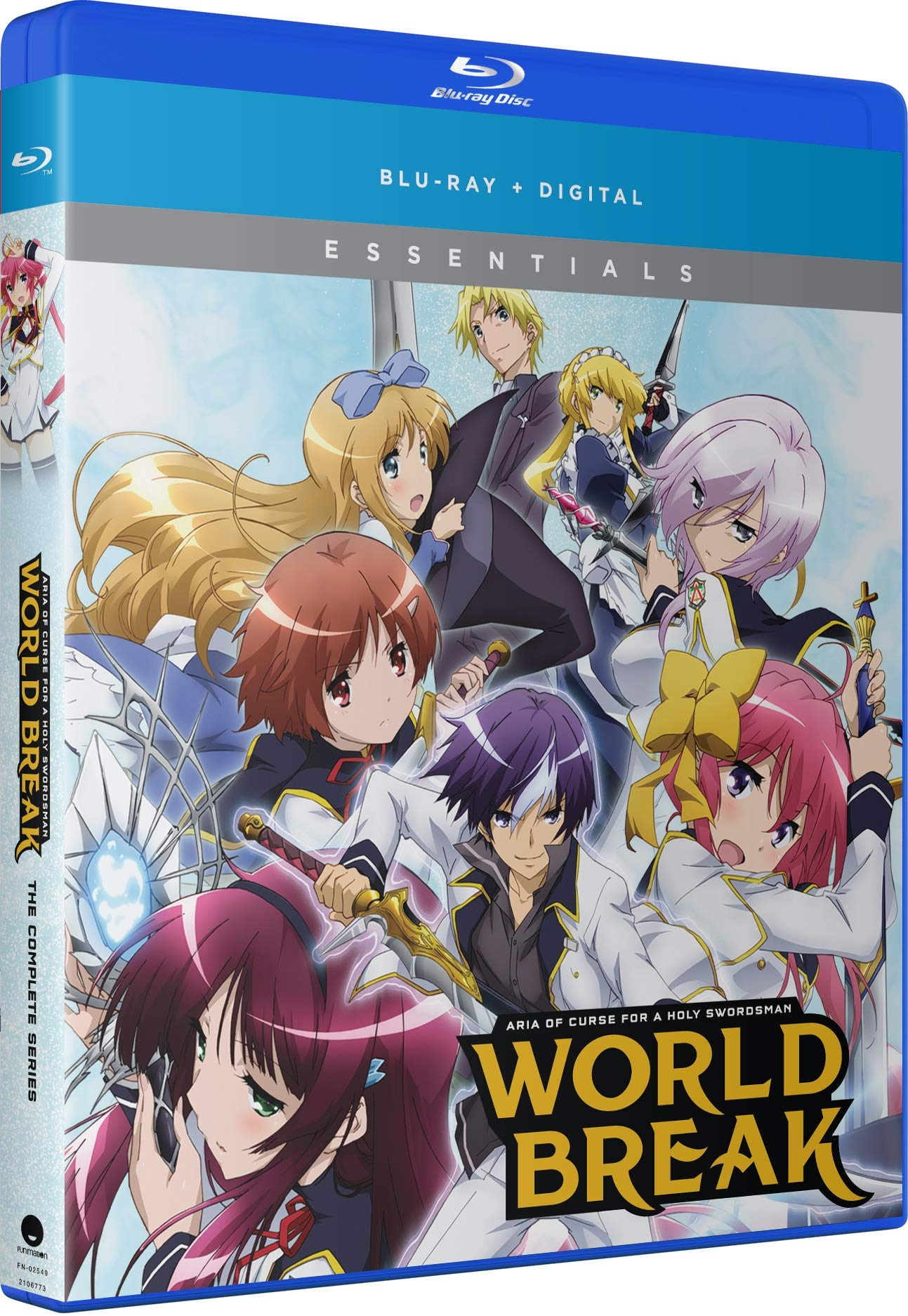 Blu-ray : World Break: Aria Of Curse For A Holy Swordsman - Complete Series -essentials (Uncut, Subtitled, Slipsleeve Packaging, Snap Case, Digital Copy)