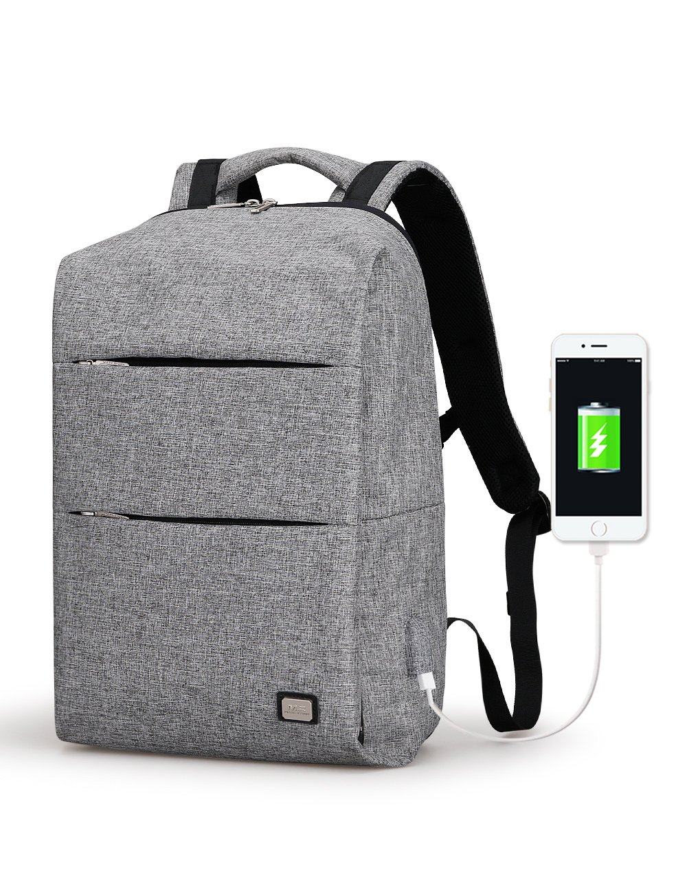 160ab78c0ed8 on sale Mark Ryden Business Water Resistant Polyester Laptop Backpack with USB  Charging Port Fits Under