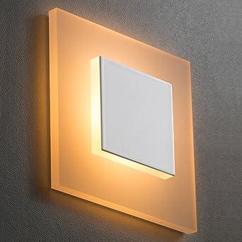 led treppenbeleuchtung sunled pyramid small warmweiss alu weiss 230v 1w plexiglas wand lampen treppenlicht