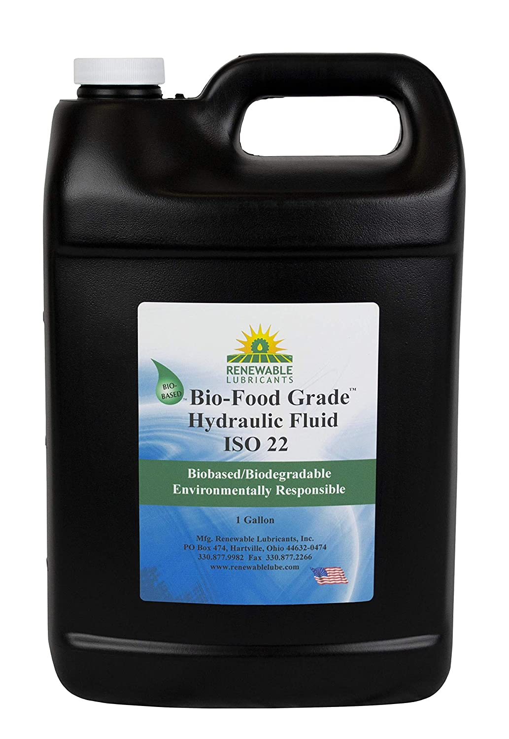 Renewable Lubricants 87103 Food Grade Hydraulic Oil, 1 gal., yellow