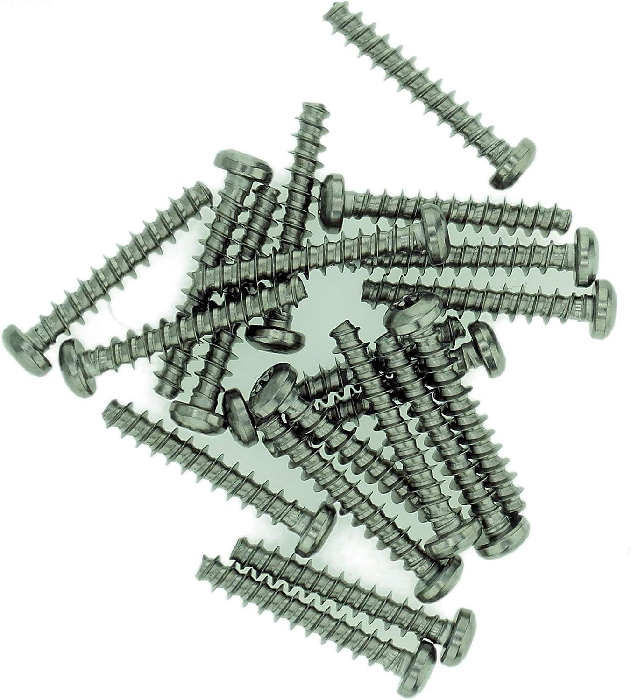 TX Flachschrauben f/ür Kunststoff 5 mm x 10 mm Edelstahl D5 20 St/ück A2