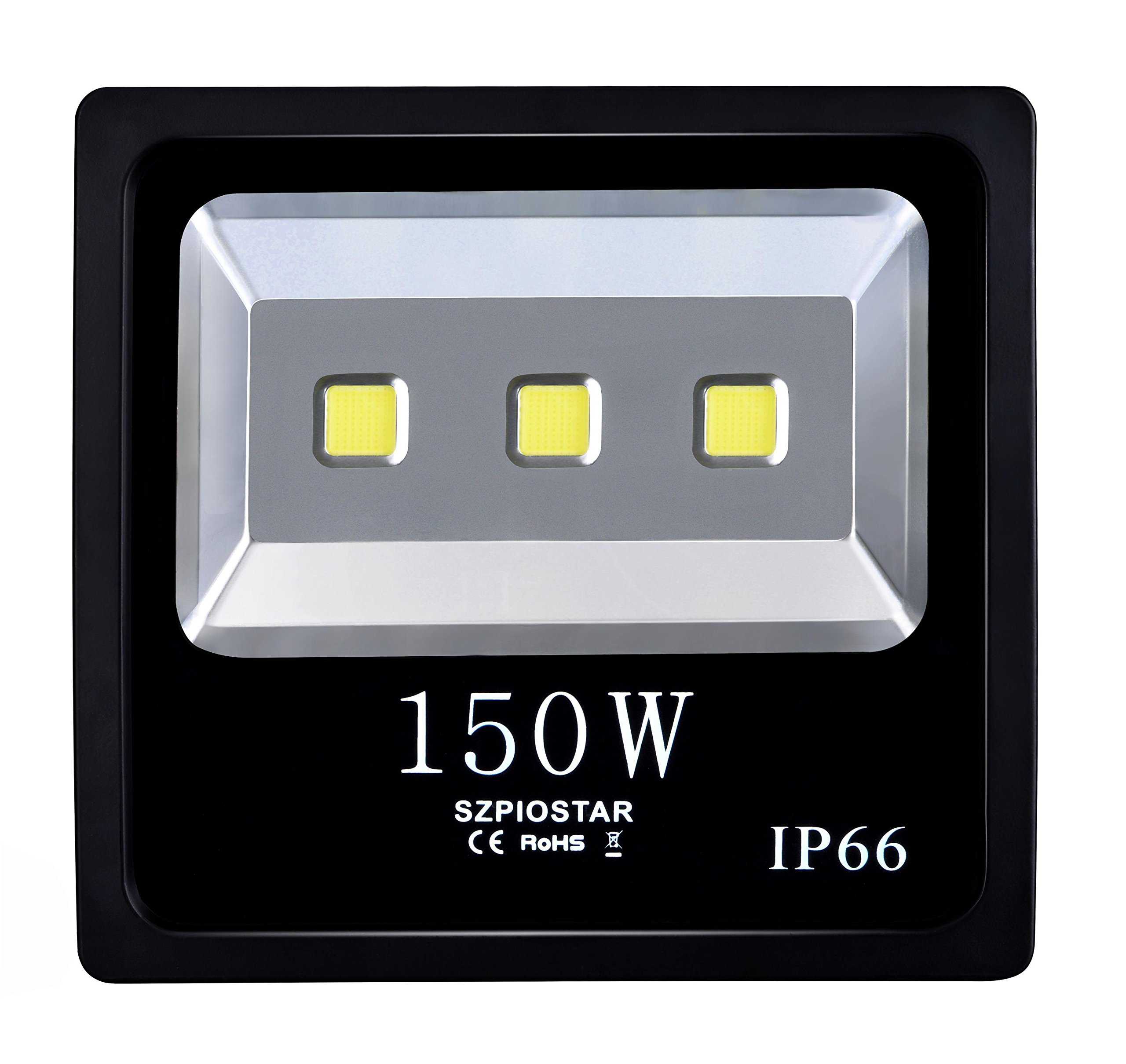 SZPIOSTAR 150W LED Flood Light, Warm White 3000K, 15000 lumens, Outdoor Waterproof Light Fixtures for Driveway Garage