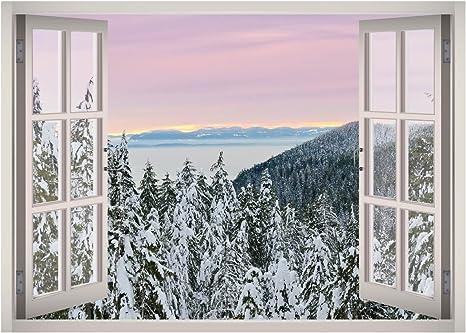 Details about  /3D Snowy Landscape 7Stair Risers Decoration Photo Mural Vinyl Decal Wallpaper AU